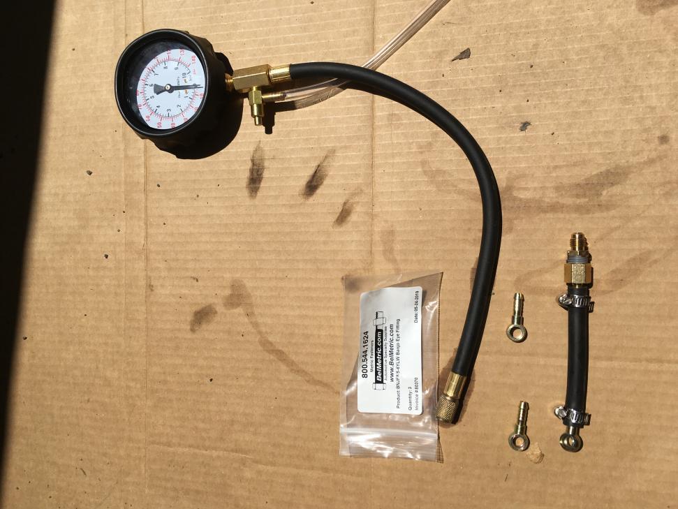 Testing fuel system / replacing fuel pressure regulator